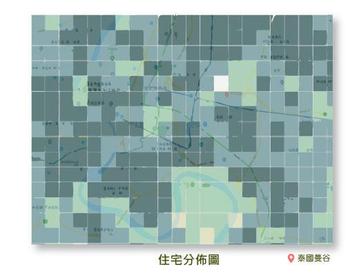 住宅分佈圖泰國曼谷